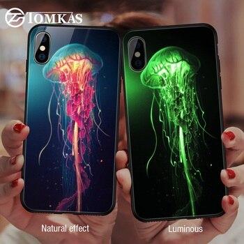 245308da3a1 TOMKAS luminosa Animal caja de cristal para iPhone X XS X MAX XS de lujo  caja del teléfono de silicona para iPhone 7 8 Plus casos para iPhone 6 S 6 S