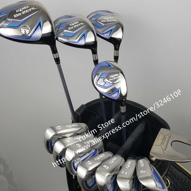 touredge Golf irons HONMA BEZEAL 525 Golf clubs with Graphite Golf shaft R or S flex No bag Free shipping simulation mini golf course display toy set with golf club ball flag