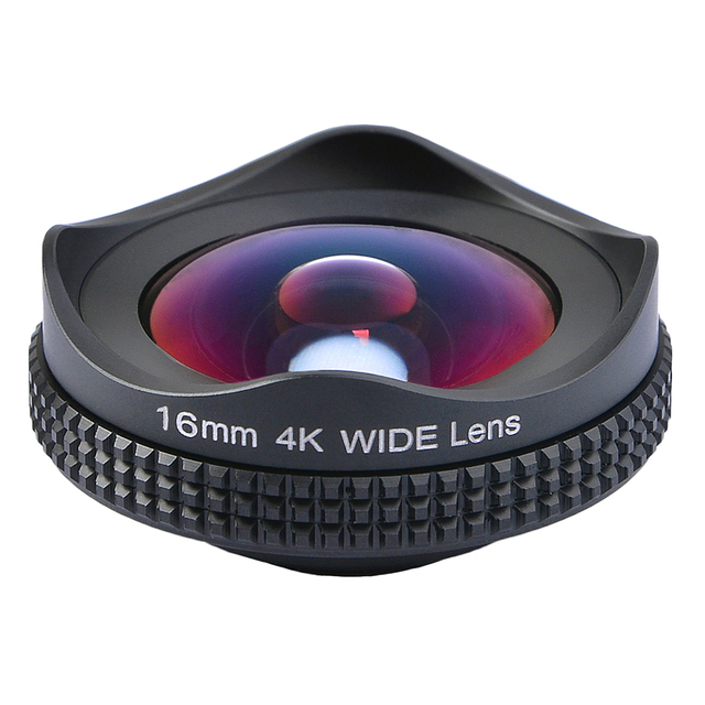 APEXELProfessional 4K Wide lens circular polarizing Filter 16mm HD super wide angle lens for iPhone 6s plus 7 HTC more phone 2