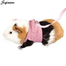 Sqinans 2 Colors Hamster Rabbit Harness And Leash Set Ferret Guinea Pig Small Animal Pet Walking Lead 1.8m S/L