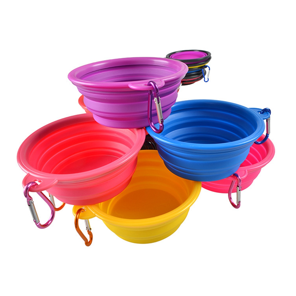 Foldable Small Dog Bowl Silicone Bowls for Cats Portable