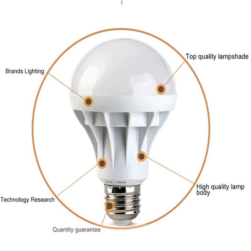 1 unids/lote Lampada LED E27 LED lámpara LED Bombilla 20 w 15 w 12 w 9 w 5 w 7 w 3 w Bombillas LED ampollas LED 220 v 110 v iluminación del hogar