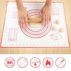 3 rozmiary nieprzywierająca mata silikonowa do pieczenia ugniatanie podkładka z włókna szklanego walcowanie ciasta duży rozmiar na ciasto Macaron narzędzia kuchenne