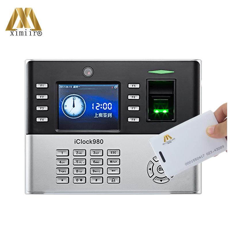 New Arrival IClock980 RFID Biometric Fingerprint Time Attendance System With Camera ZK Fingerprint Time Recorder
