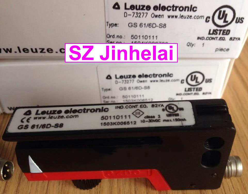 GS 61/6D-S8  New and original Germany LEUZE Photoelectric switch  Trough type sensor e3x da21 s photoelectric switch