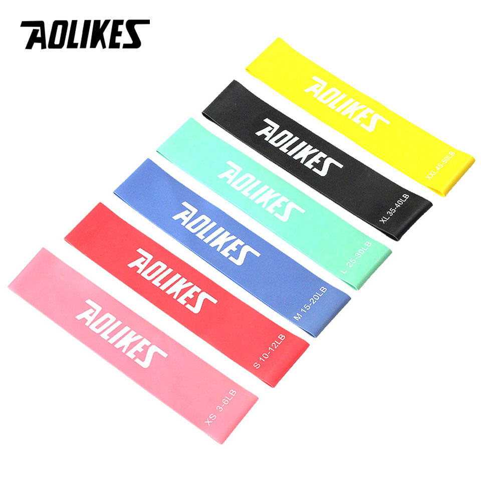 AOLIKES 1PCS Resistance Bands Rubber Band Workout Fitness Gym Equipment Rubber Loops Latex Yoga Gym Strength Training Athletic