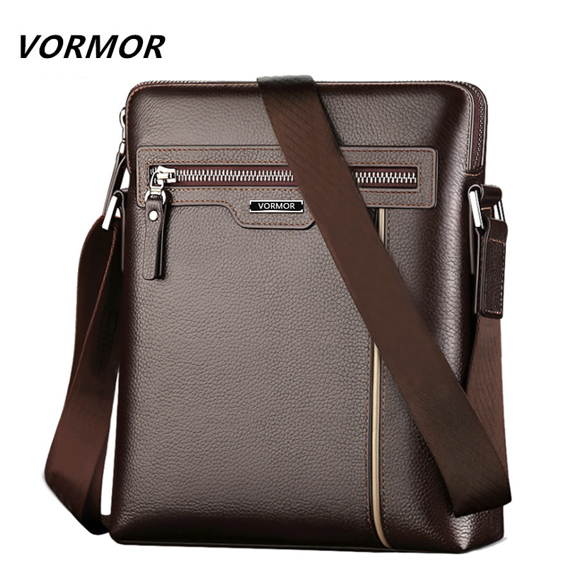 7e64ceb171 VORMOR Famous Brand Leather Men Bag Casual Business Leather Mens Messenger  Bag Fashion Men s Crossbody Bag bolsas male -in Crossbody Bags from Luggage  ...