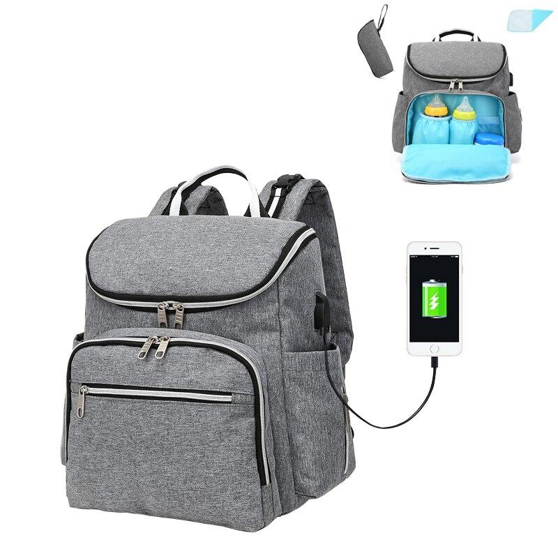 2018 New Fashion Large Capacity Travel Mummy Diaper Bag Shoulder Handbag Multifunction Nursing Stroller Backpack for Baby Care