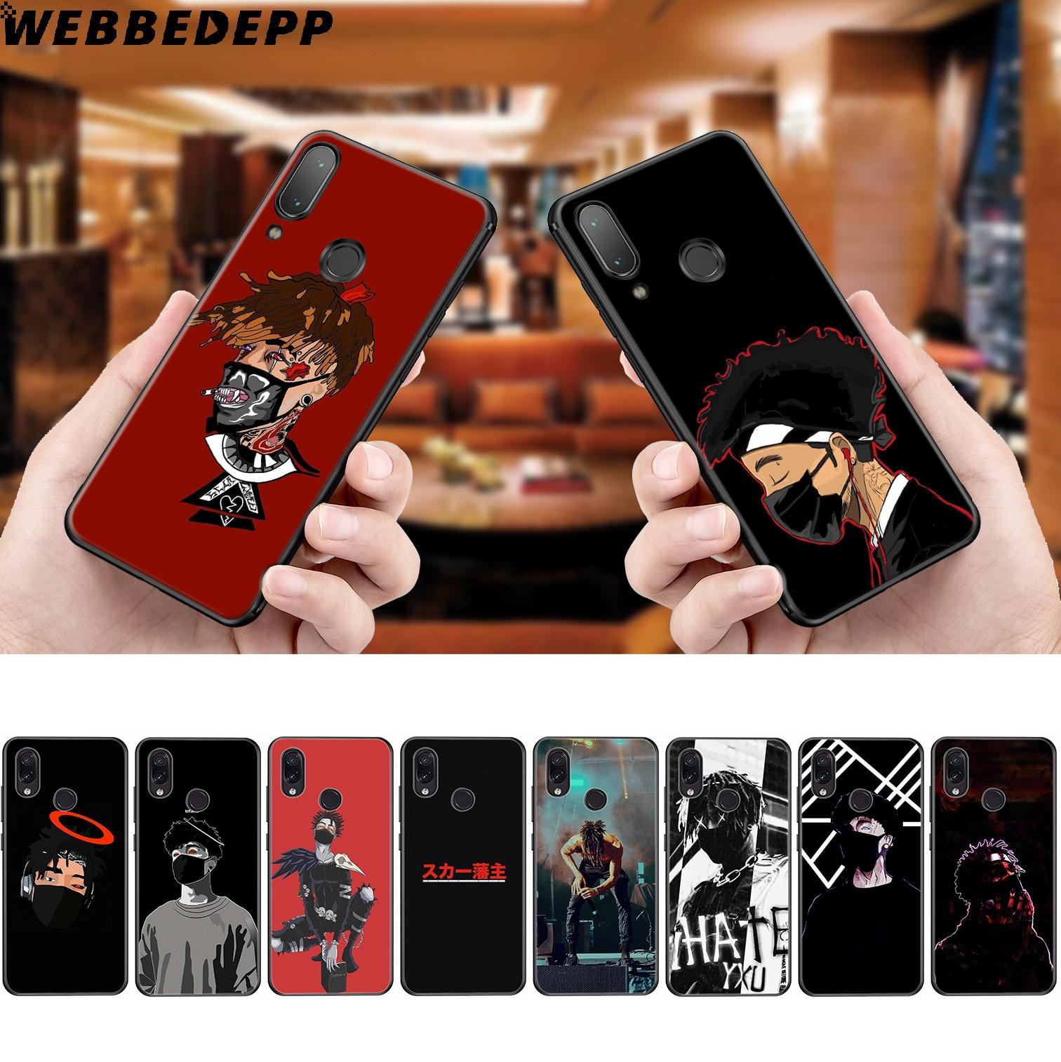 WEBBEDEPP Scarlxrd Rappeur Étui Souple pour Xiaomi Redmi K20 7A 4A 4X 5 5A 6 6A S2 Note 8 4 4X 5 6 5A 7 Pro Plus Premier