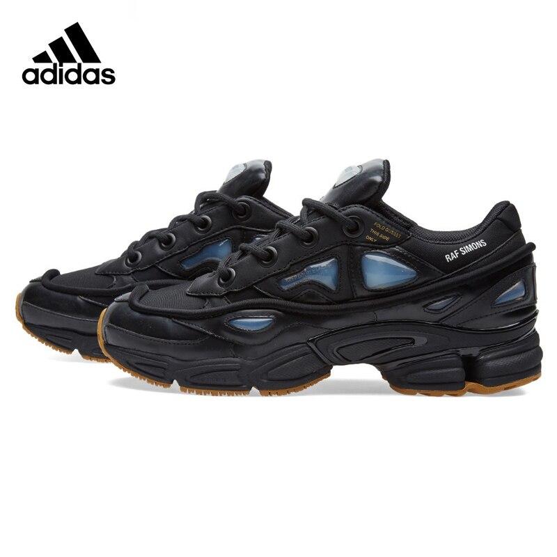 Adidas Consortium Ozweego X Raf Simons Для мужчин кроссовки, черный/белый цвет, дышащие износостойкие Нескользящие S81162 S81161 ...