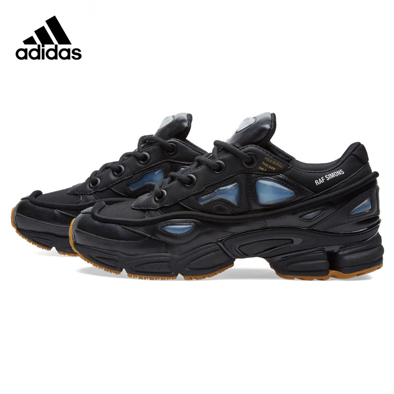 Adidas Consortium Ozweego X Raf Simons Mens Running Shoes , Black / White , Breathable W ...