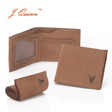 J.Quinn Handmade Real Leather Men Slim Wallet 8 Credit Cards Holder ID Slot Small Short Men's Wallets Vintage Purses New Fashion