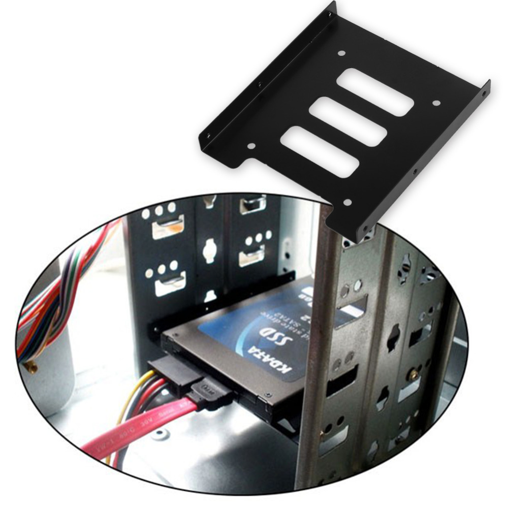 """NEW 2.5/"""" to 3.5/"""" SSD to HDD Mounting Rail Plastics Adapter Bracket Holder Dock"""