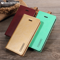 fundas coque for iPhone 5 c MERCURY GOOSPERY Blue Moon for iPhone 5c Wallet Leather Stand Case - Black