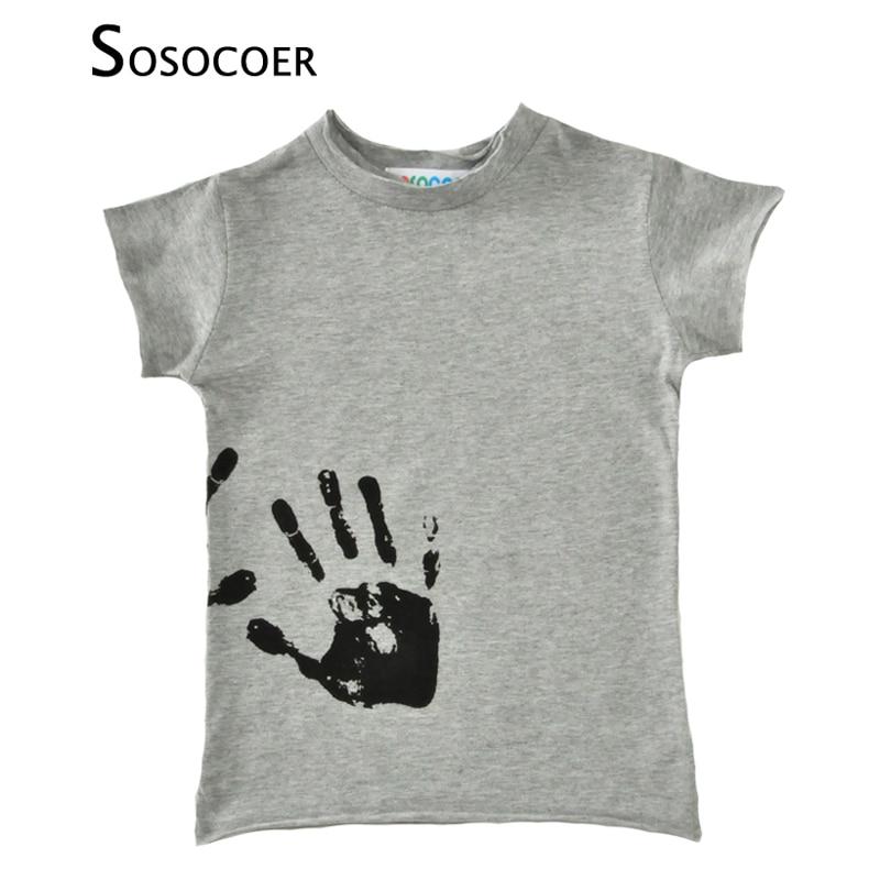 Buy sosocoer boys t shirts hand print for T shirt printing for babies