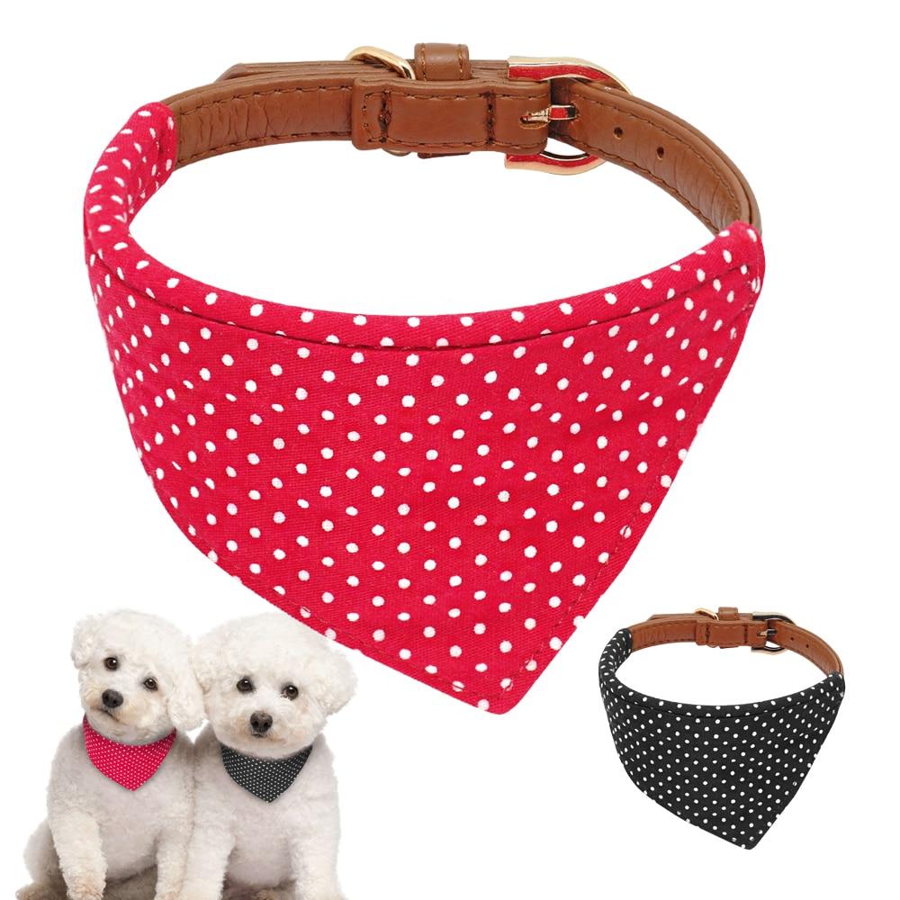 Dog Bandana Scarf Lot Soft Cotton Pet Puppy Kitten Neck Scarf Neckerchief 4pcs