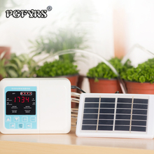 1Set Garden Intelligent Drip irrigation system Double pump Solar Automatic watering device Potted plant Timer Water Pump new exported to 58 countries solar water pomp 3 years guarantee solar pump system for irrigation