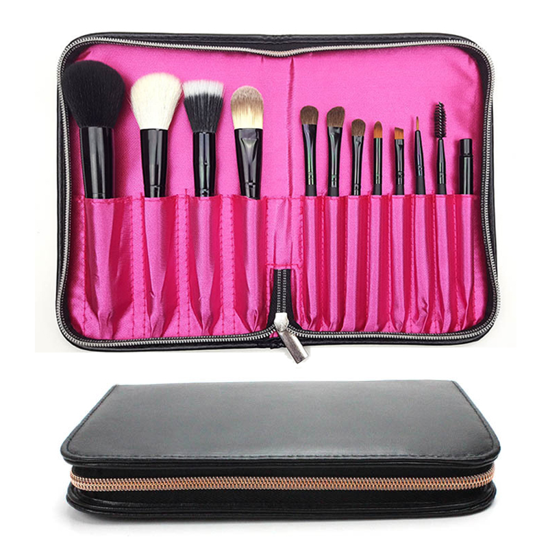 12 hole Pro Makeup Brushes Holder Bag Box Beauty Tools PU Leather Cosmetic Brushes Traval Storage Case Organizer Accessories