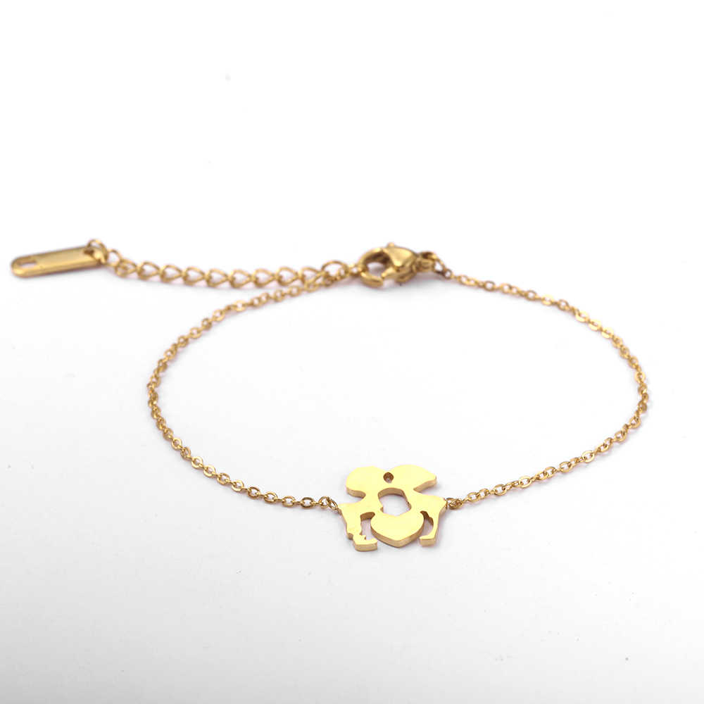 SHE WEIER браслеты дружбы из нержавеющей стали для Женский аксессуары ювелирные изделия золото для женщин цепочка звено