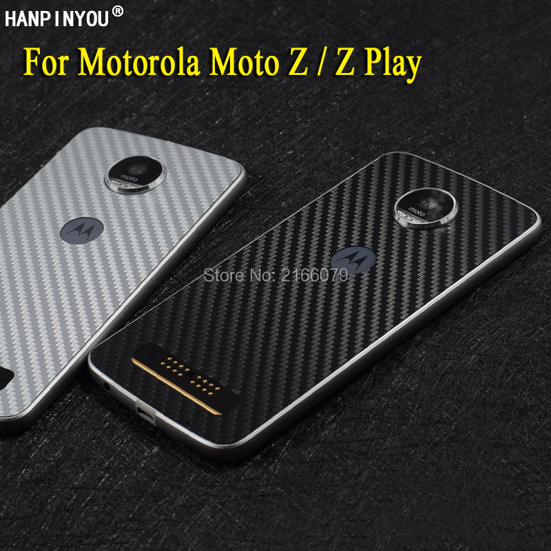 For Motorola Moto Z / Moto Z Play Droid New Full Back Decal Skin 3D Carbon Fiber Phone Protective Sticker Film image