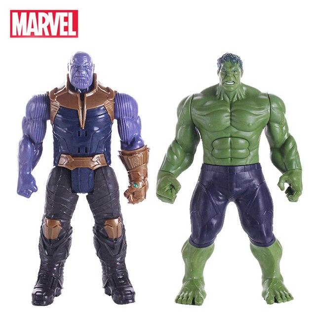 30 centímetros Piscando Som Infinito Guerra Vingadores Thanos Maravilha Hulk Homem de Ferro Homem Aranha Capitão América Figura de Ação Brinquedos Bonecas