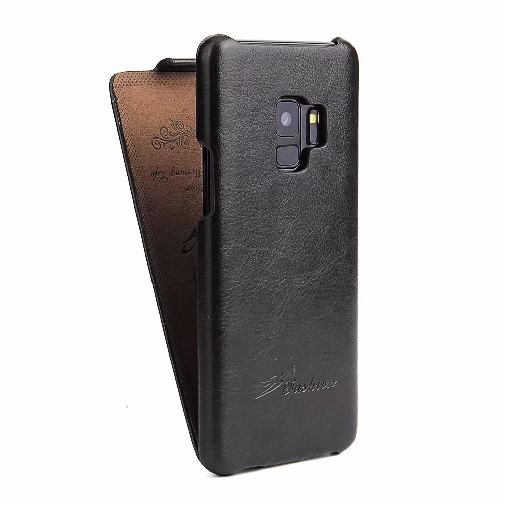 Flip Leather Samsung Galaxy S8 S8plus Vintage Brand Back Cover For Samsung S9 Vertical Flip Up Phone Case