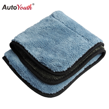AUTOYOUTH 800GSM 45cmx38cm Super Thick Plush Microfiber Car Cleaning Cloths Car Care Microfibre Wax Polishing Detailing Towels image
