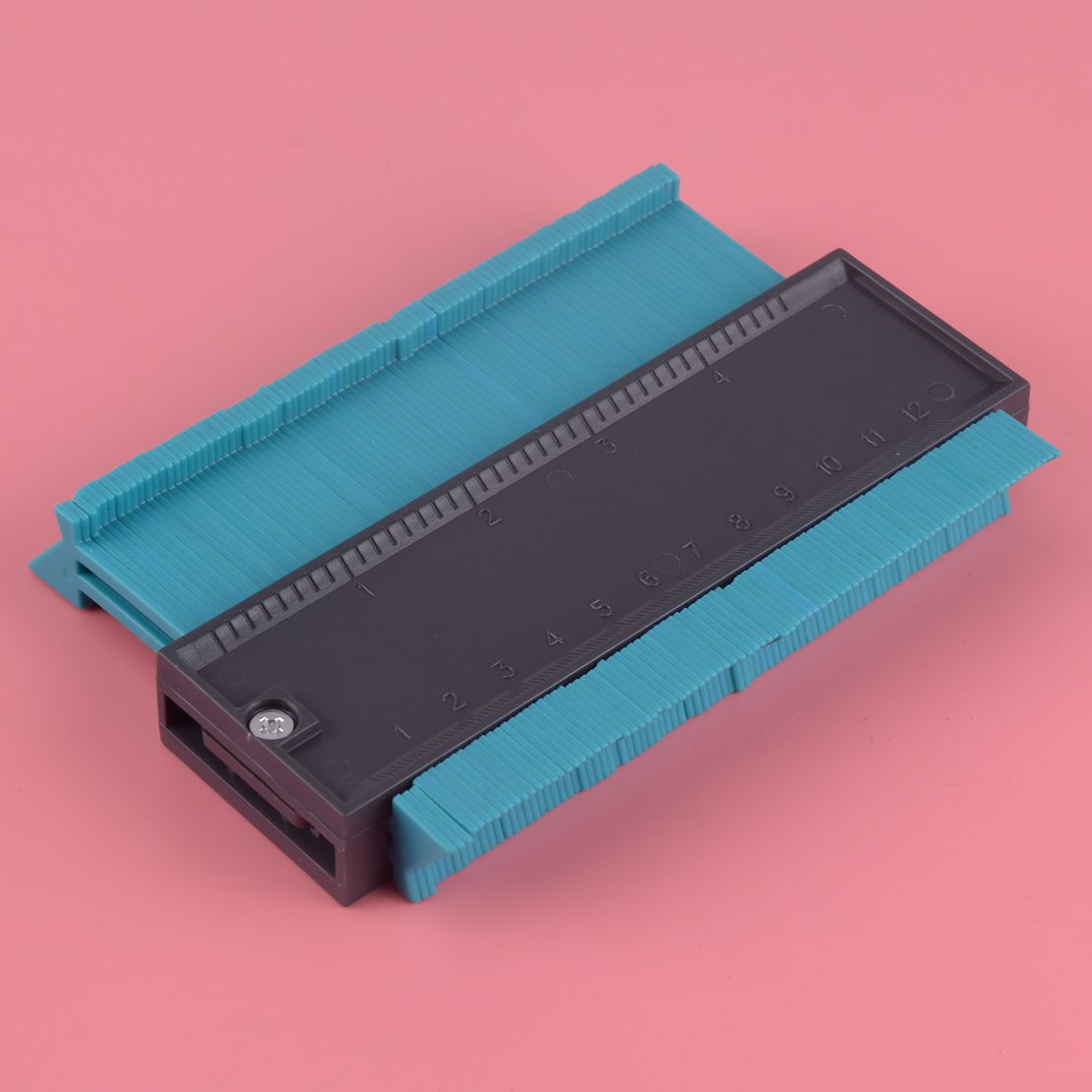 LETAOSK 5 Inch Measure Ruler Contour Profile Gauge Tiling Laminate Edge Shaping Craft Tool Instant Template
