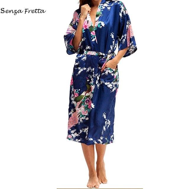 LUVCLS New Arrival Silk Satin Kimono Robe Dressing Gown Wedding ...
