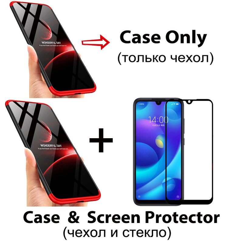 Image 5 - 3 in 1 Plastic Hard 360 Tempered Glass + Case for Xiaomi Redmi Note 7 Anti Shock Back Cover Case for Xiaomi Redmi Note 7 Pro 7A-in Fitted Cases from Cellphones & Telecommunications