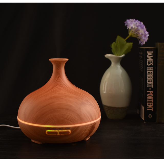 2017 Popular Wood Grain Vase Humidifier Ultrasonic Humidifier