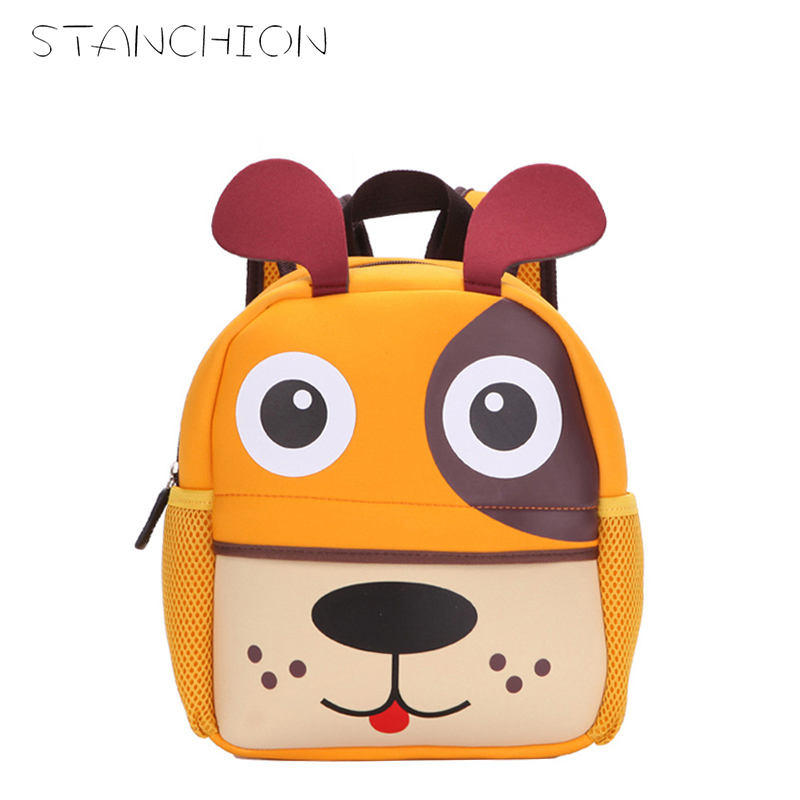 STANCHION New 3D Cute Animal Design Backpack Kids School Bags For Girls Boys Cartoon Dog Monkey Shaped Children Backpacks forudesigsn printing backpack boys 3d animal schnauzer backpacks school bags for girls college bags student backpack mochila