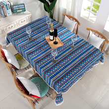 Simanfei Waterproof Table Cloth European Fashion Oil-proof Lace Cover Square Cotton Linen Hot Sale Printed Tablecloth