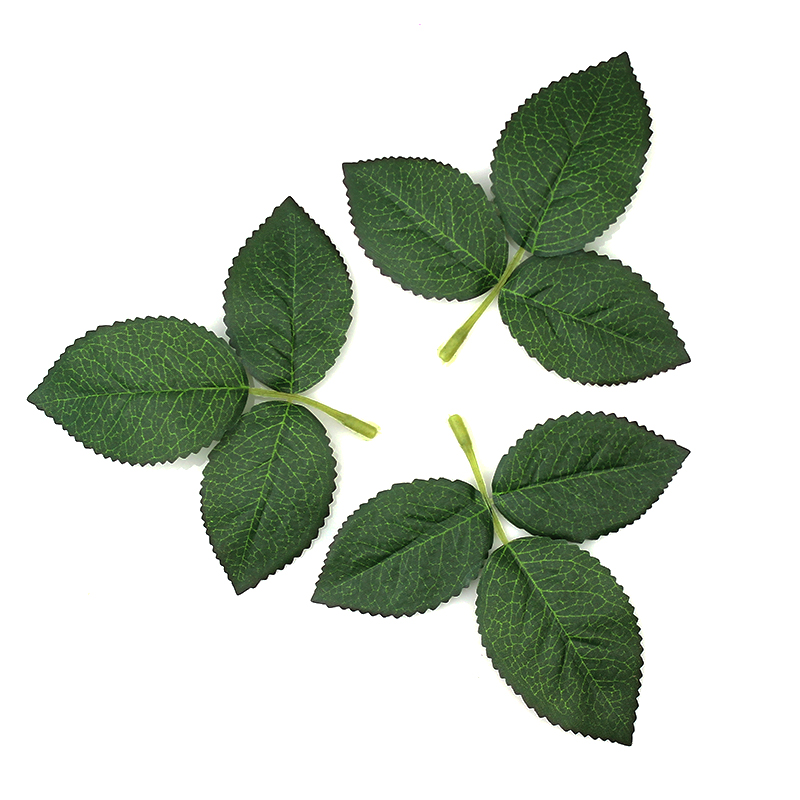Buy high quality 50pieces green for Artificial leaves for decoration