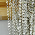 16ft 5 Meters Silver Plated Flat Oval Cable Link Chain Jewelry Findings 2x3mm - Top Quality Fashion Jewelry Findings