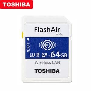 Image 1 - TOSHIBA Flash Air W 04 Memory Card 32GB 64GB WIFI SD Card 90MB/s Wireless LAN Memory Card Tarjeta sd WIFI Carte SD For Camera