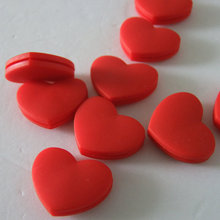 Free shipping 50pcs lot Red Heart Vibration Dampener shock absorber
