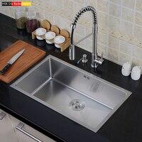 Стали, один большой бак, набор, утолщение, руководство канавки, стол, верхний и нижний кухня кастрюли, мыть посуду