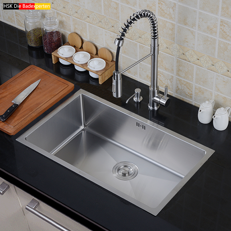 steel sink, large single tank, set, thickening, manual trough, table, upper and lower kitchen pots, wash dishes