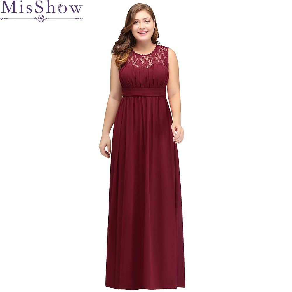 2018 Chiffon Plus Size Evening Dresses Women Cheap Long Sleeveless A