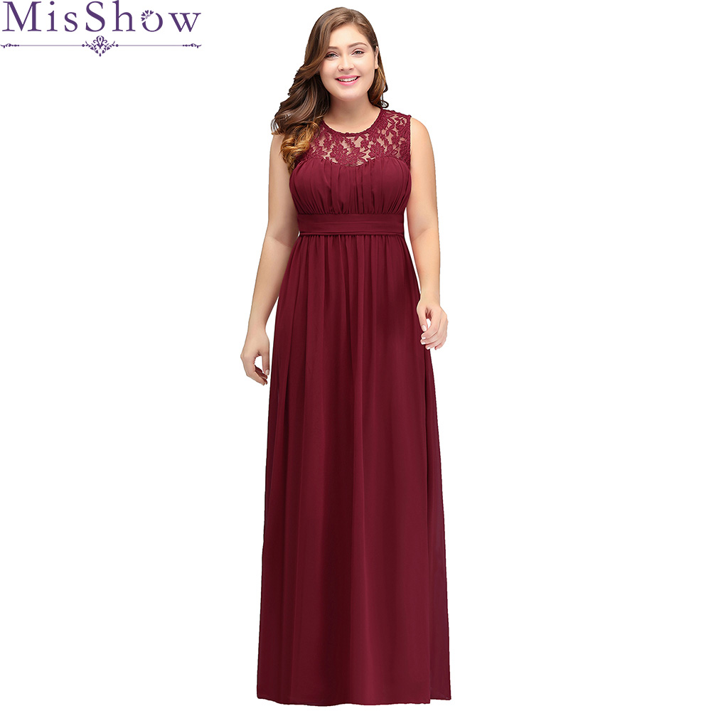 US $35.37 43% OFF|2019 Chiffon Plus Size Evening Dresses Women Cheap Long  Sleeveless A Line Evening Gowns Wedding Guest Party Dress Robe De Soiree-in  ...