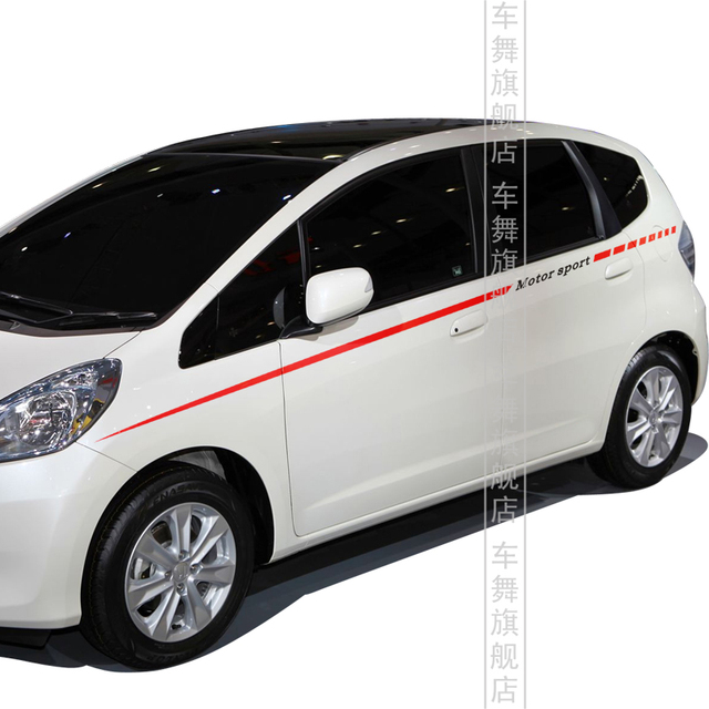 Motor Sport Style Fashion Car Stickers And Decals For Honda Fit Crv Waistline Color Styling Sticker