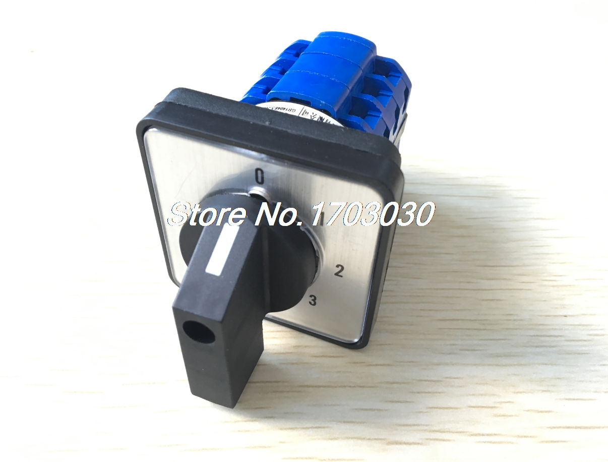 CA10 6 Positions 12 Screw Terminals Rotary Select Cam Changeover Switch ui 660v ith 25a 12 terminals 3 positions latching rotary changeover cam switch