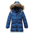 Boys Winter Coat and Jacket White duck down Overcoat with fur collar Kids Snow Outerwear Outdoor Parkas