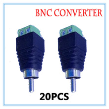 20 pieces BNC CCTV Video Balun passive Transceiver Male Adapter For CCTV IP Camera Power Supply Surveillance Accessories
