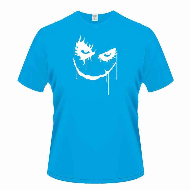 2019 Новая модная футболка, одежда для мужчин, футболка, одежда для клоуна, принт «Кровавый рот», Мужская футболка с рисунком, Мужская хлопковая футболка с принтом