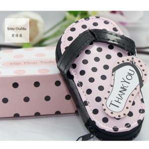 Image 2 - Pink Polka Purse Slippers Shaped Cute Creative Manicure Set Wedding Gift Favors 20sets Nail tools