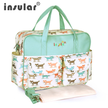 Insular Fashion Tote Nappy Baby Bag Cross-body Multifunctional Mummy Maternity Shoulder Diaper Travel
