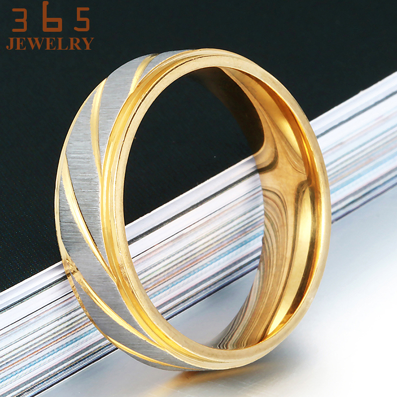 Luxury Jewelry Gold Friendship Korean Stainless Steel Love Rings - Fashion Jewelry - Photo 6