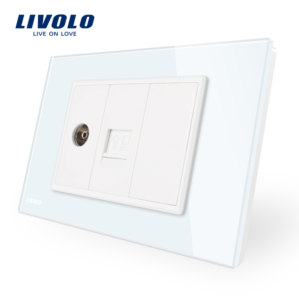 livolo new arrival outlet tv with computer socket plate
